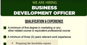 Read more about the article BUSINESS DEVELOPMENT OFFICER